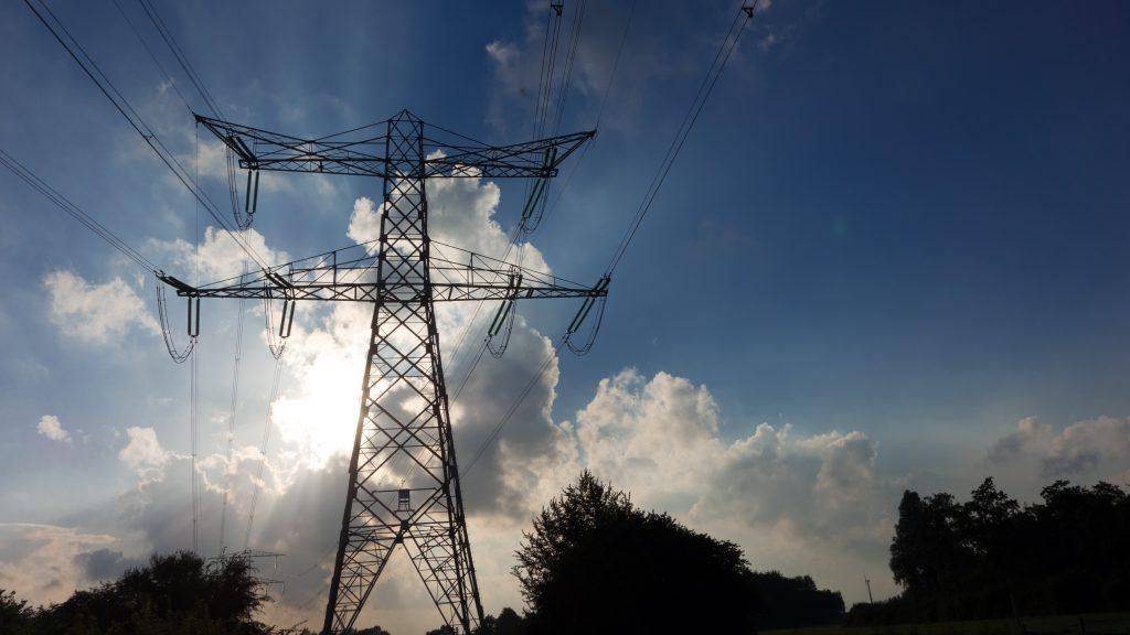 high-voltage pylon